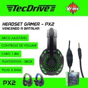 Headset Gamer XP PX2 X-CELL (Compatível PS4 / XBOX)