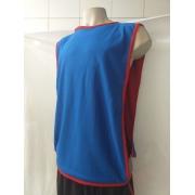 Jogo com 5 Colete Dupla Face Verm/Azul Futebol Kit Treino