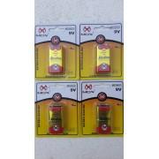 Kit 10 Bateria 9v Alcalina MO-9VALK Mox Inmetro - Blister