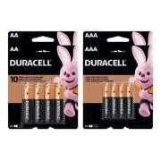 Kit 32 Pilhas Duracell Alcalina 16 Aa + 16 Aaa Pack 8 Econopack - Original