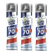 Kit 3 Spray Alcool 70% AER SuperDom 300ML/170G DomLine
