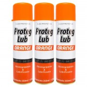 Kit 3 Spray Desengripante e Lubrificante Proteg Orange 250ml