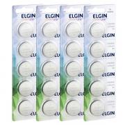 Kit 4 Cartelas Bateria Lithium 3v Cr2450 Elgin (Blister C/5)