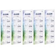 Kit 5 Cartelas Bateria Alcalina Lr626 / AG4 Elgin (Cartelas c/10)