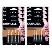 Kit 64 Pilhas Duracell Alcalina 32 Aa + 32 Aaa Pack 8 ou 16 - Original