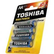 Kit 6 Blister C/4 Un. Pilha Alcalina AA 1.5v LR6 Toshiba