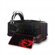 Kit Combo Gamer Redragon S112 (Teclado, Mouse Headset e Mousepad)