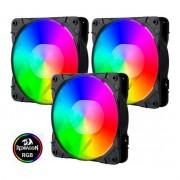 Kit Cooler Pc Gamer 120mm GC-F007 RGB C/Contr.Rem e Contr. Redragon
