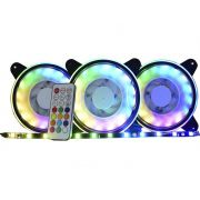 Kit Cooler Pc Gamer 120mm RGB Double C/Contr.Rem + Fita AF-Y1225 K-Mex