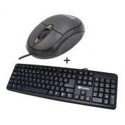 Kit Teclado Usb Office abnt2 + Mouse Usb Office infoWise (Preto)