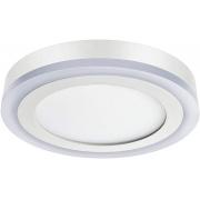 Luminária Led Redonda Sobrepor 3 Estágios Bi-Volt Elgin (12w Branca + 6w Amarela)