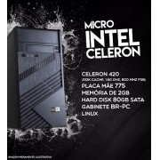 Micro PC Br One - Intel Celeron 420, mem 2Gb, HD 80Gb Sata, Linux.