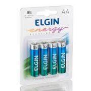Pilha Alcalina Aa 1.5v LR6 Blister C/4 Un. Elgin