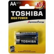 Pilha Alcalina AA 1.5v LR6GCP Blister C/2 Toshiba