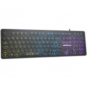 Teclado Gamer K-mex Steampunk Km76 Anti Ghosting (Efeitos de Led)
