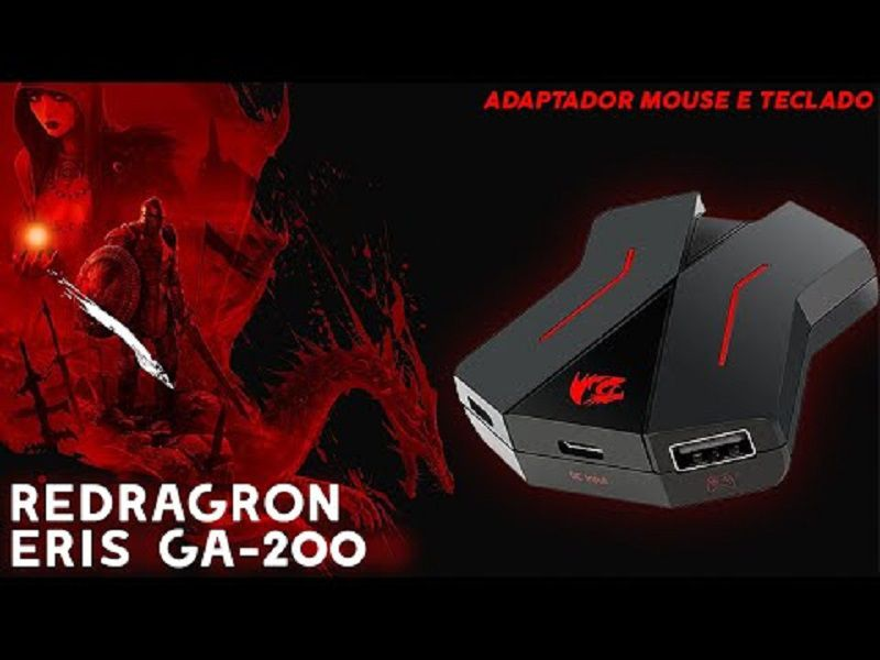 Adaptador Redragon Ga-200 Eris Teclado/mouse P/ Ps4 Xbox One