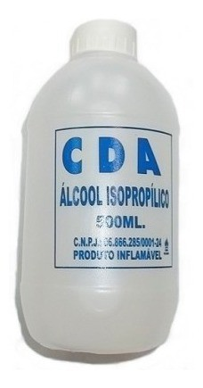 Álcool Isopropílico Isopropanol 99,8% CDA 500ml