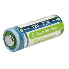 Bateria Alcalina A23 12v Green P/Portão e alarmes. Caixa C/10 Unidades.