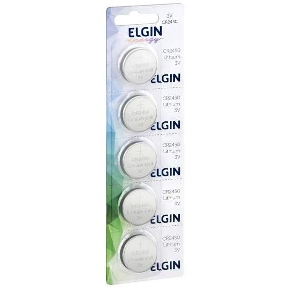 Bateria Lithium 3v Cr2450 Elgin (Blister C/5)