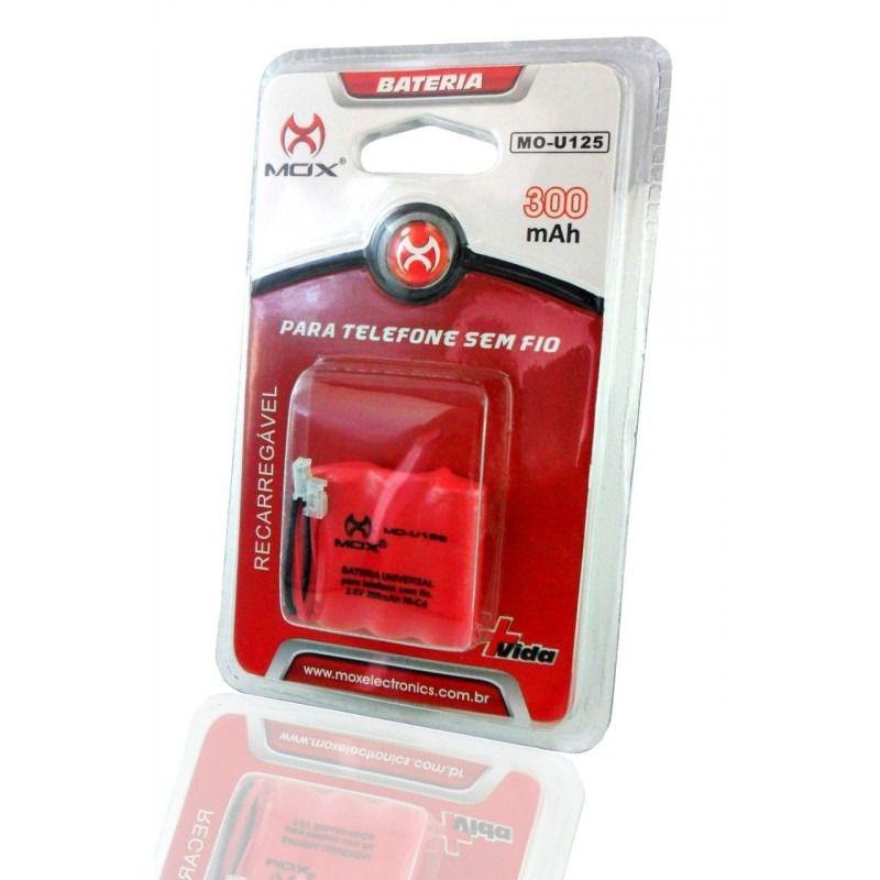 Bateria Mox Mo-u125 Para Telefone S/Fio (Várias Marcas)