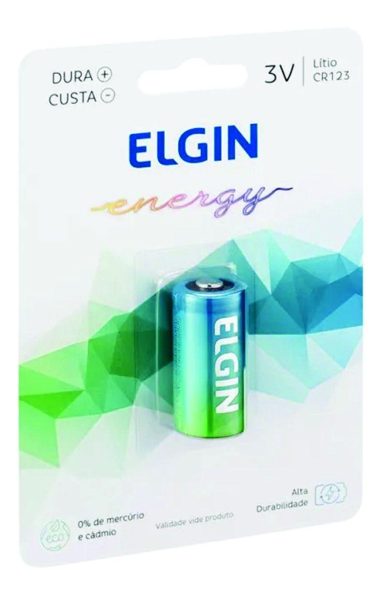 Bateria Pilha 3v Cr123 Elgin Blister C/1 - Original