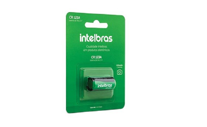 Bateria Pilha 3v Cr123A IntelBras Blister C/1 - Original