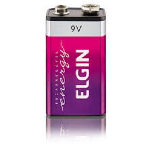 Bateria Recarregavel 9v 250Mah Elgin - Original (Blister)