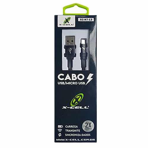 Cabo De Dados Usb Flat M.usb / V8 1.2m Kt-13 X-cell