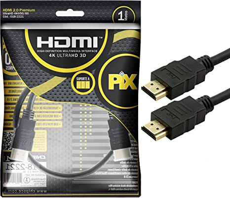 Cabo Hdmi Gold 2.0 - 4K HDR 3D 19P 1.0M PIX