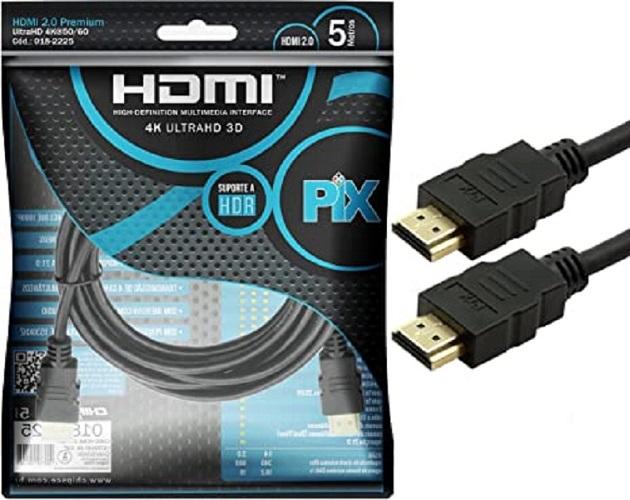 Cabo Hdmi Gold 2.0 - 4K HDR 3D 19P 5M PIX