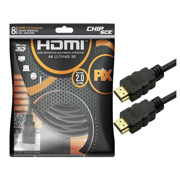 Cabo Hdmi Gold 2.0 - 4K HDR 3D 19P 8M PIX