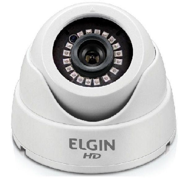 Câmera Digital DVR Mini Dome 4 Em 1 Hd 1080p 3,6mm 15Mts C41ht3m Elgin
