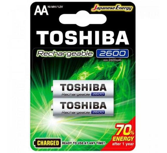 Carregador CP-50 Mox + 2 Pilha Rec. AAA 950mah + 2  Rec. Aa 2500mah Toshiba
