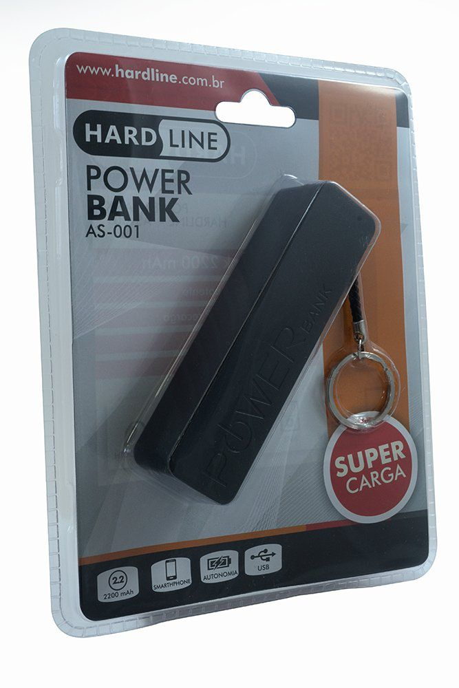 Carregador Portatil HardLine AS-001 2200Mah (Modelo Chaveiro)