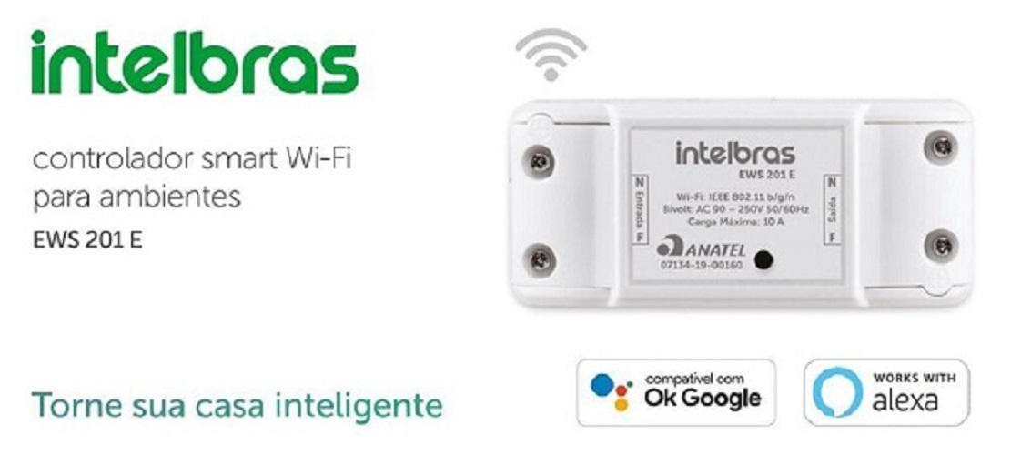 Controlador Smart Wi-fi Para Ambientes Ews 201 E Intelbras