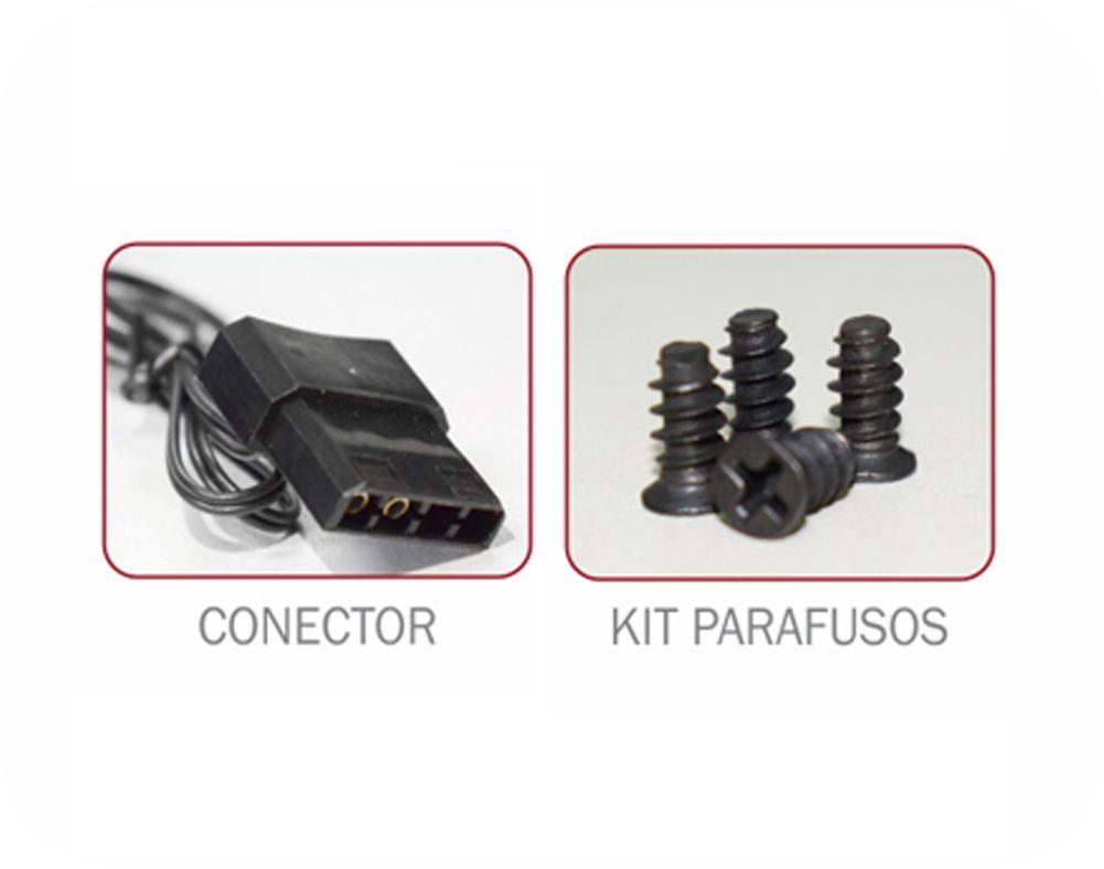 Cooler Pc Gamer 120mm 15 Leds, 5 Cores AF-R1225 Double K-Mex