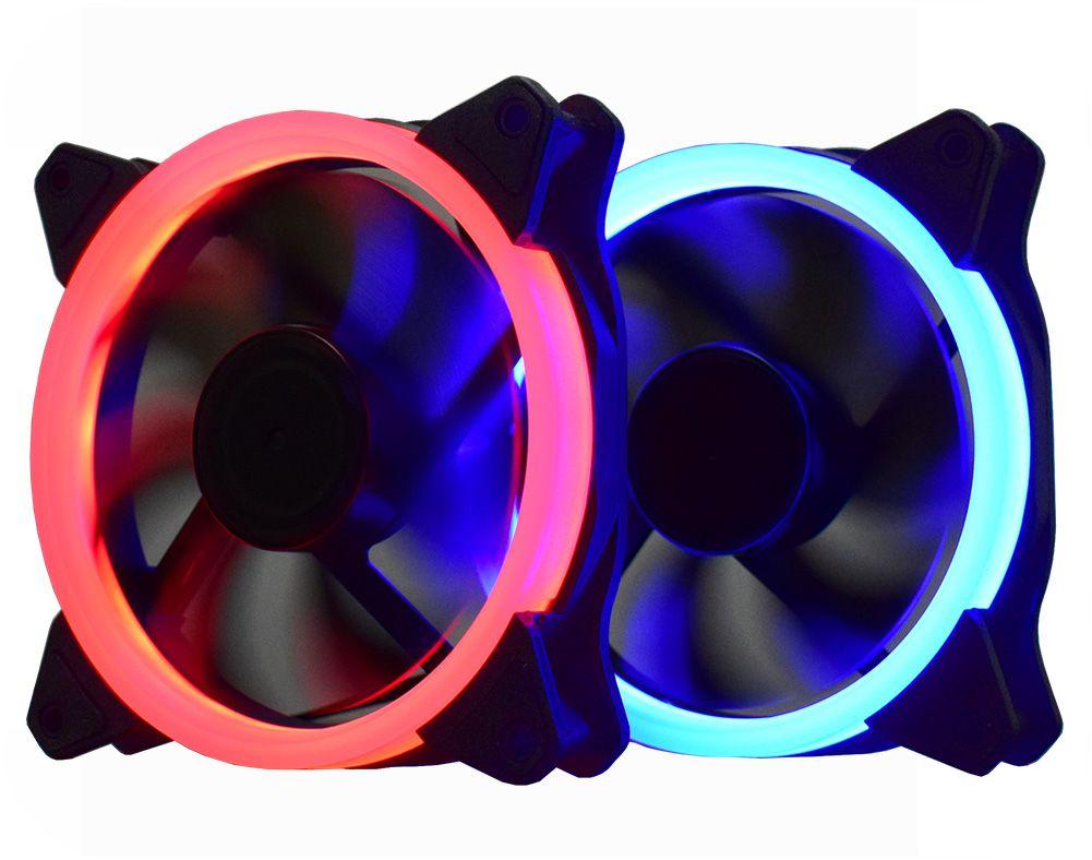 Cooler Pc Gamer AF-Q1225 K-Mex C/Anel de Led (Vermelho)