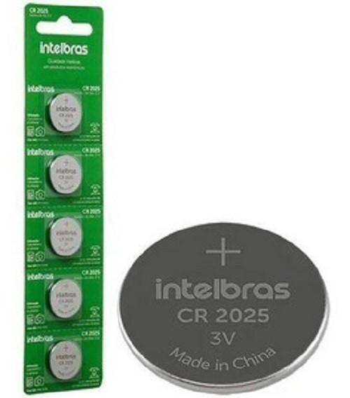 Kit 5 Cartelas Bateria Lithium 3v Cr2025 IntelBras (Blister C/5)