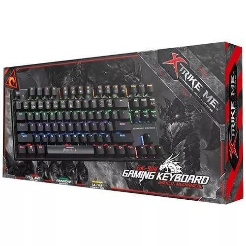 Teclado Gamer Mecanico GK-908 87 teclas, Iluminação 6 cores backlight Xtrike