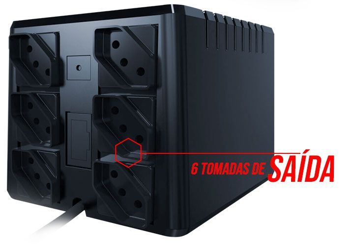 Estabilizador 1000va Powerest 9006 Ts Shara Mono Ent e Saida: 115v