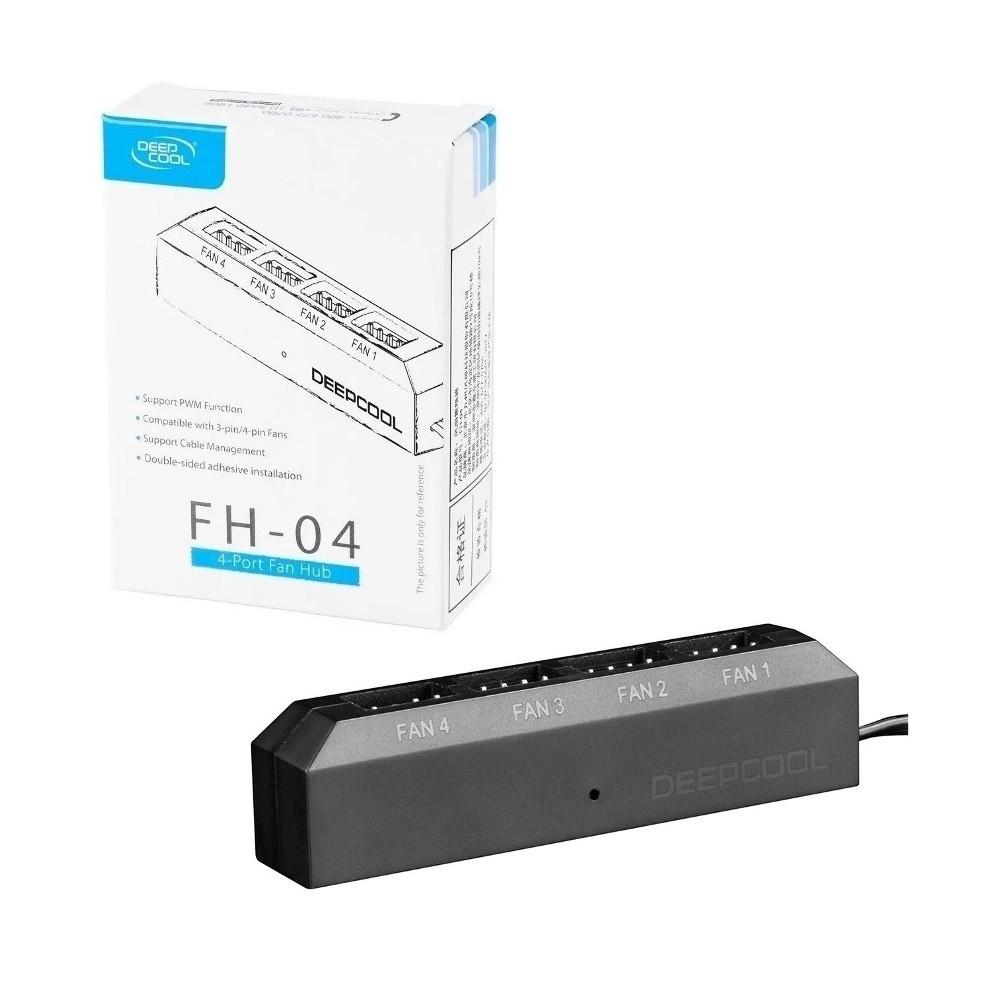 Fan Hub Deepcool Fh-04 Para Até 4 Fan Coolers