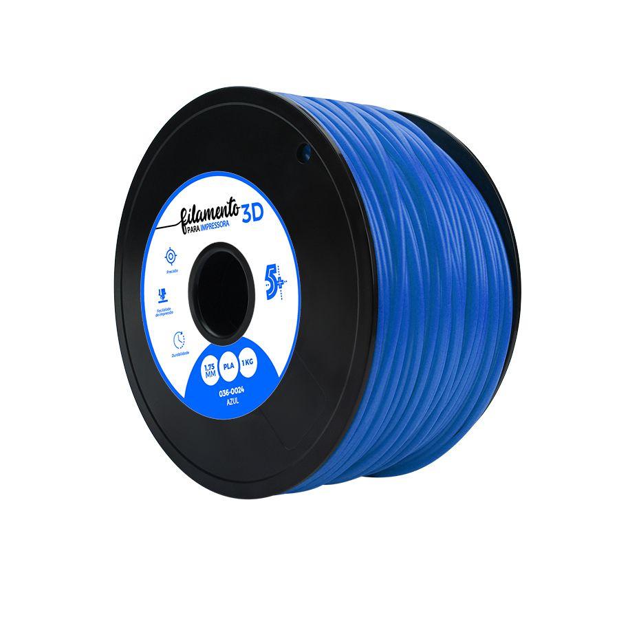 Filamento PLA para Impressora 3D 1KG 5+ (Azul)