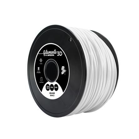 Filamento PLA para Impressora 3D 1KG 5+ (Branco)