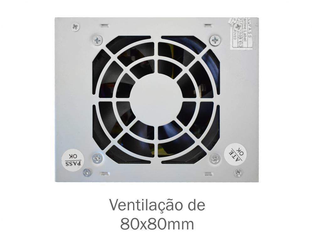 Fonte Mini Itx K-MEX PB-200CNF 200w Reais Slim Bivolt.