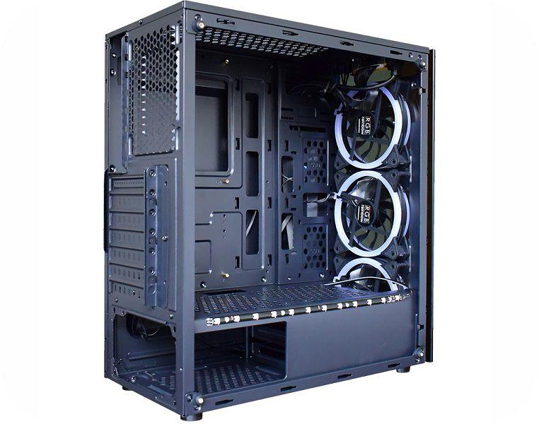 Gabinete Gamer Atx K-Mex Atlantis II CG-02N9 c/kit RGB + Fita Led - Sem Fonte