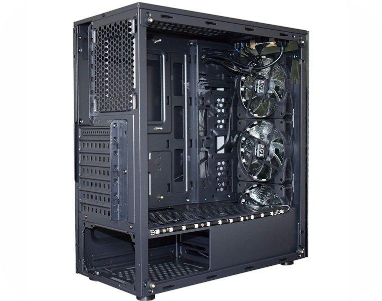 Gabinete Gamer Atx K-Mex Atlantis III CG-03N9 c/kit RGB + Fita Led - Sem Fonte