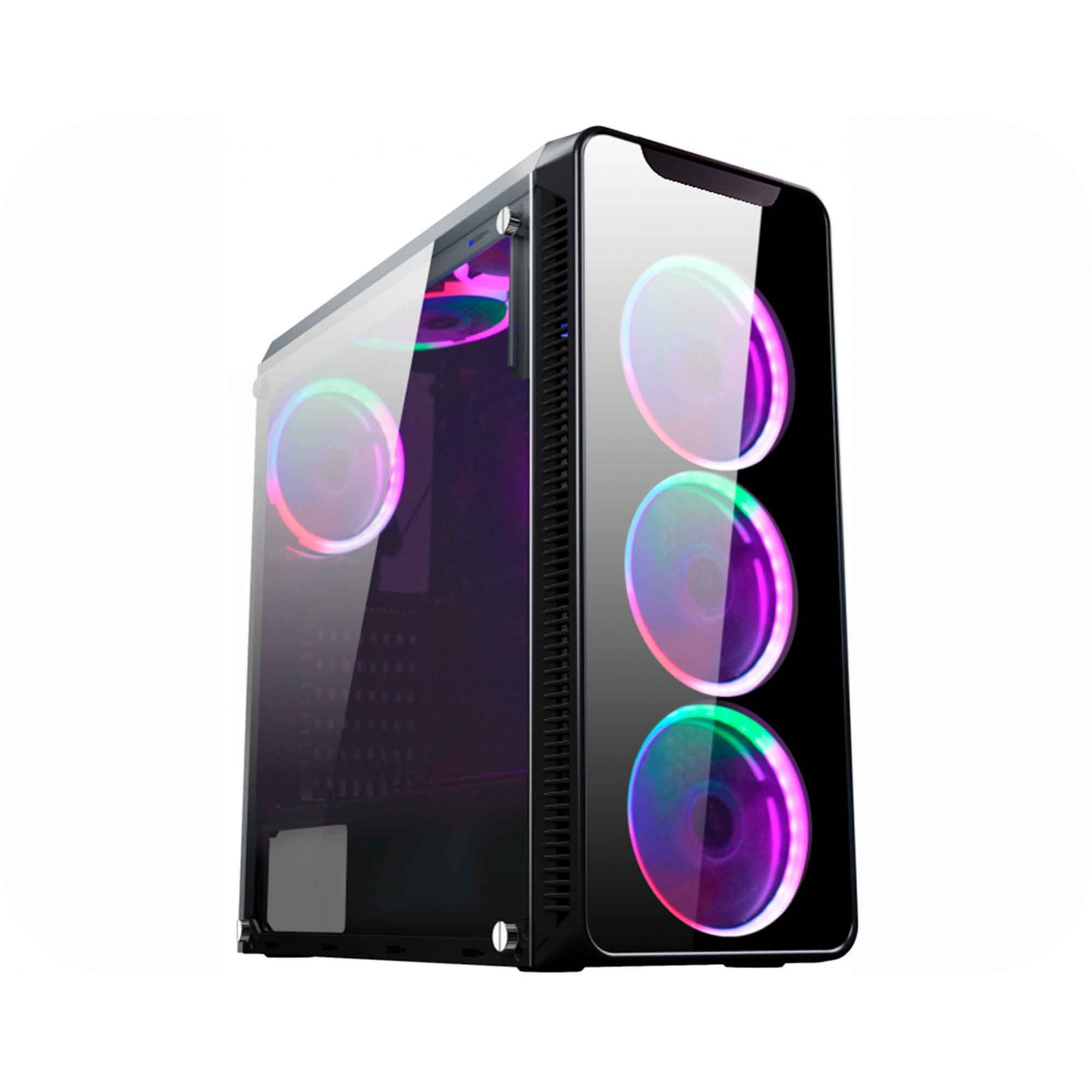 Gabinete Gamer Atx K-Mex Infinity I CG-01G8 c/3 Fans 5 cores - Sem Fonte