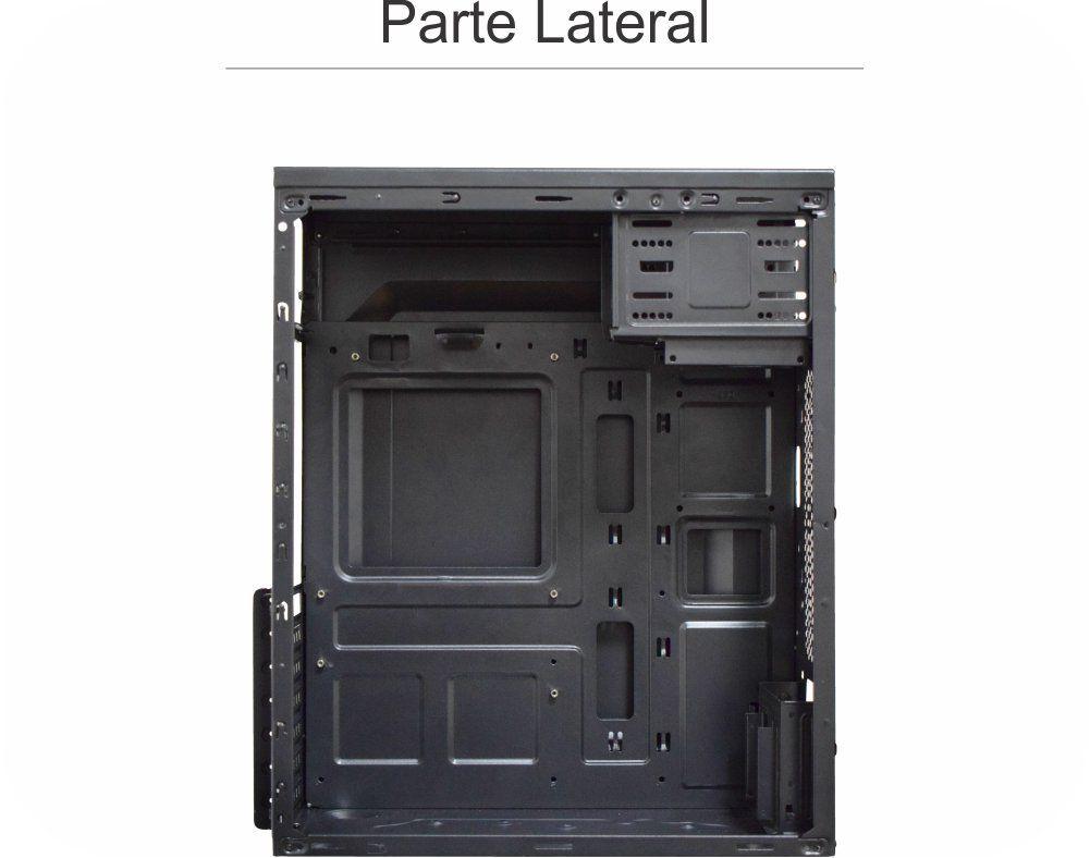 Gabinete Atx K-Mex GX-52R9 S/Fonte (Painel Preto Escovado)