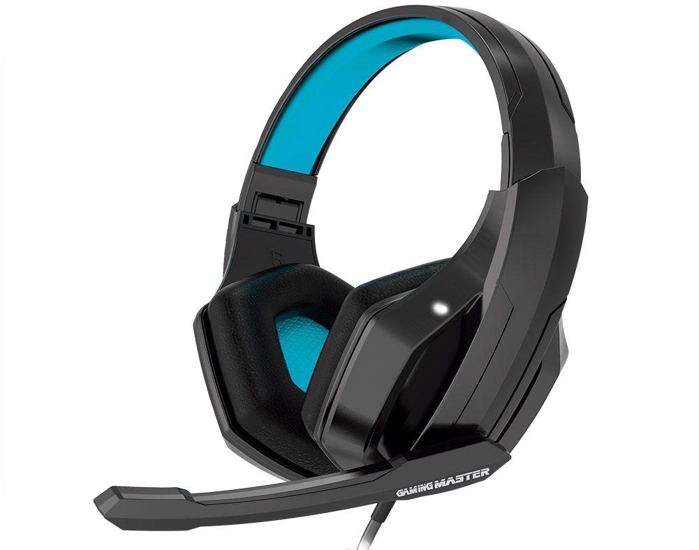 Headset Gamer K-Mex ARS3 C/mic e Adaptador P2 para console