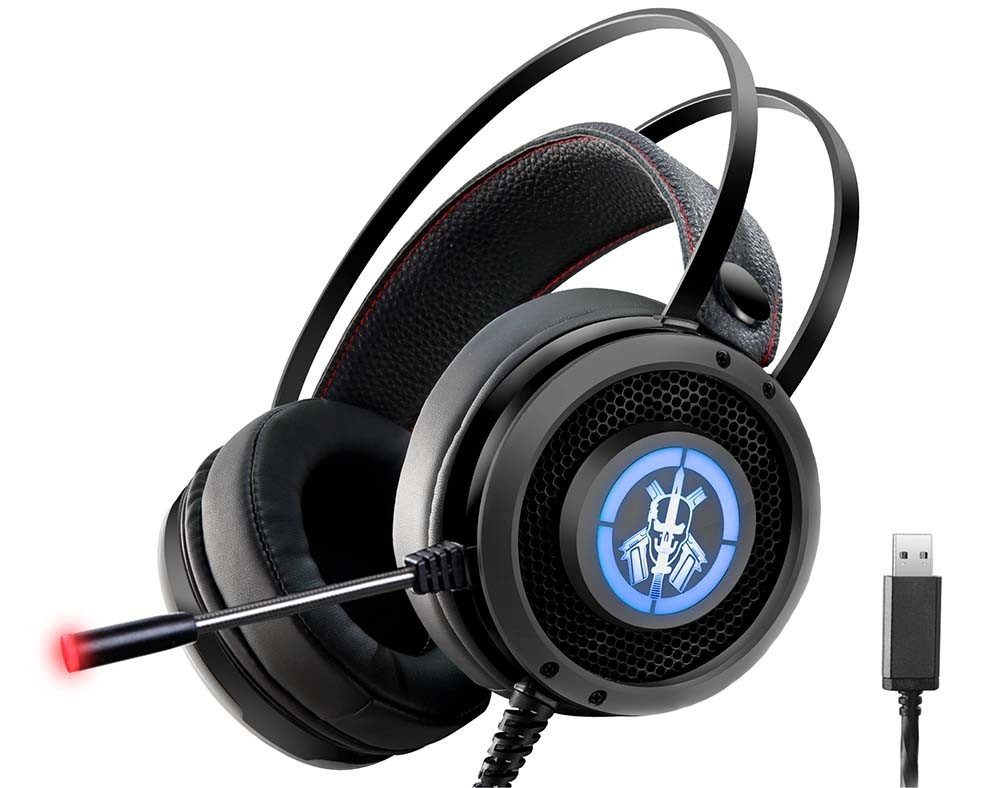 Headset Gamer K-Mex Bope 2 ARS6 Digital Surround 7.1 C/mic (Efeitos Led)